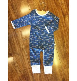 Tiny Twig Tiny Twig Organic Zip Coverall - Little Fish