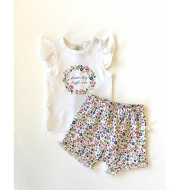 Tiny Twig Tiny Twig Organic Girl's T-shirt Set - Dream Big Little One