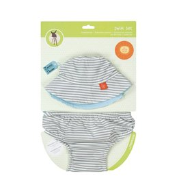 LASSIG Sun Hat + Swim Diaper Set - Submarine