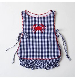 Bon Temps Boutique Gingham Crab Bloomer Set
