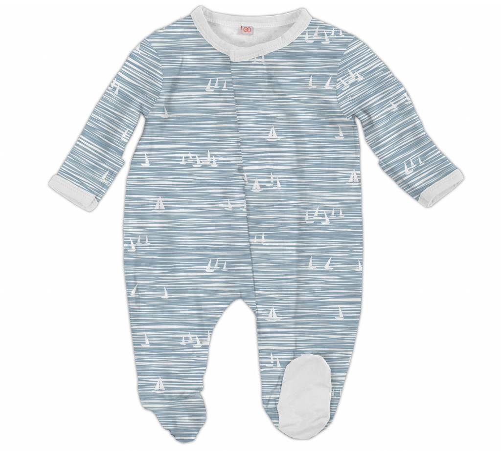 Magnetic Me Magnetic Me Modal Footie - Blue Seeing Sailboats