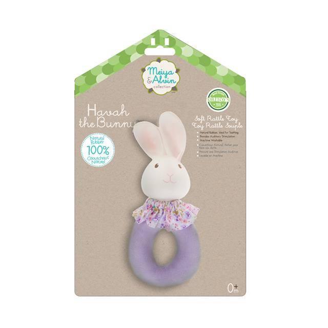 Meiya & Alvin Havah Bunny Soft Rattle Toy