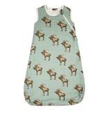 Milkbarn Milkbarn Plush Bamboo Sleeping Bag in Bow Tie Moose