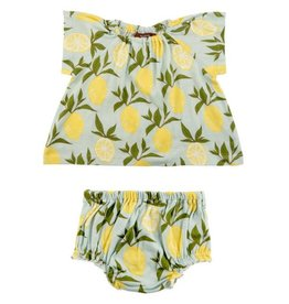 Milkbarn Milkbarn Dress & Bloomer Set - Lemon