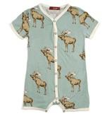 Milkbarn Milkbarn Bamboo Shortall - Bow Tie Moose