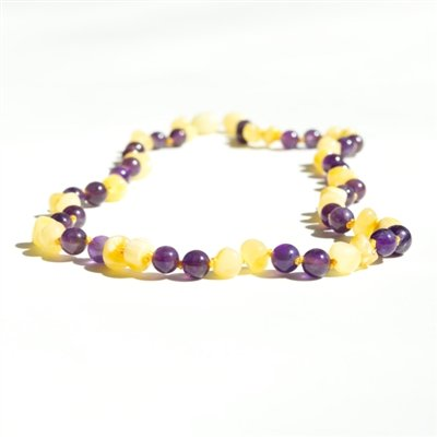 The Amber Monkey The Amber Monkey Amber & Gemstone Teething Necklace