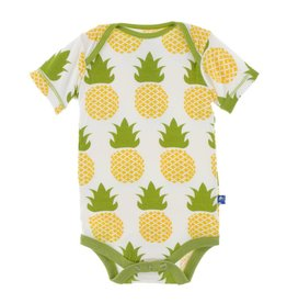 KicKee Pants KicKee Pants Short Sleeve One Piece in Natural Pineapple