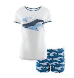 KicKee Pants KicKee Pants Short Sleeve Pajama Set with Shorts in Twilight Whale