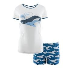 KicKee Pants KicKee Pants Short Sleeve Pajama Set with Shorts in Twilight Whale