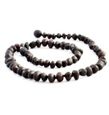 The Amber Monkey The Amber Monkey Baroque Baltic Amber 21-22 inch Necklace - Raw Chestnut