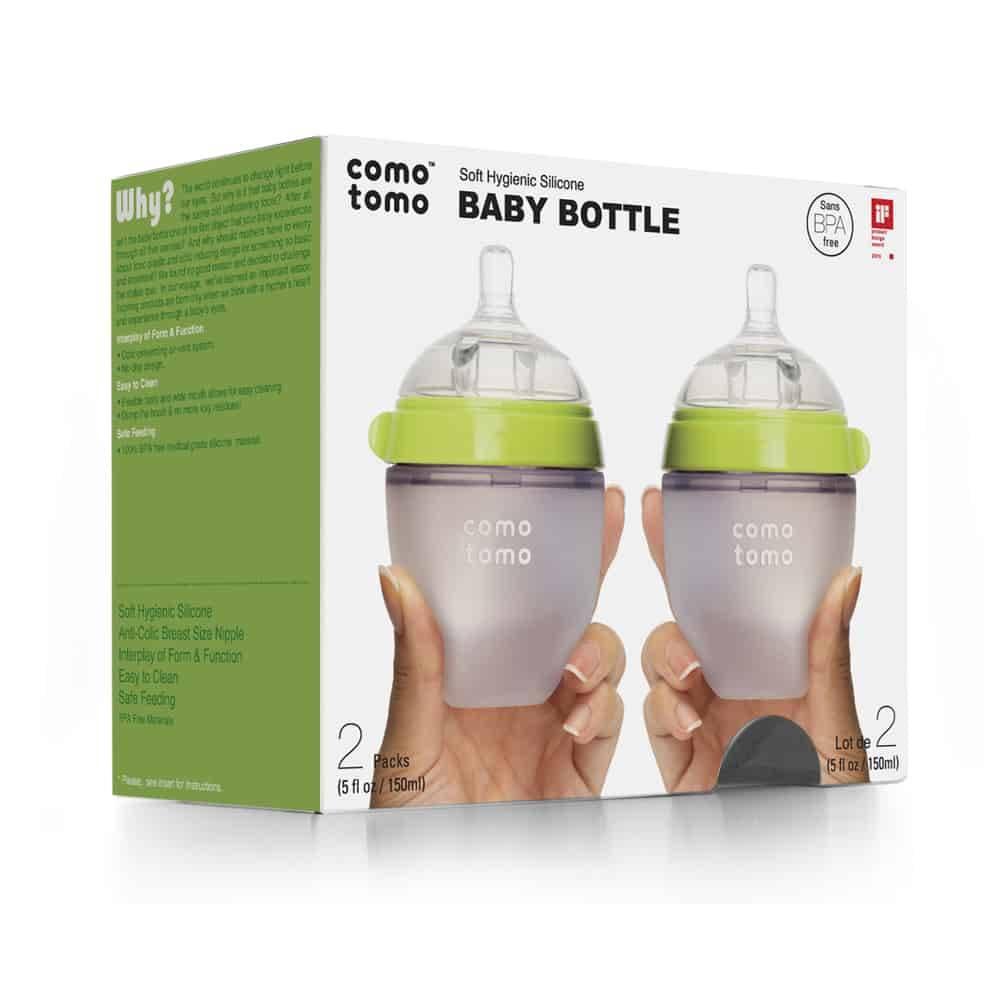 Comotomo Comotomo Baby Bottle (2-Pack) Green