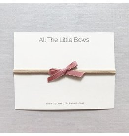 All the Little Bows All the Little Bows Petite Ribbon Headband Bow//Mauve