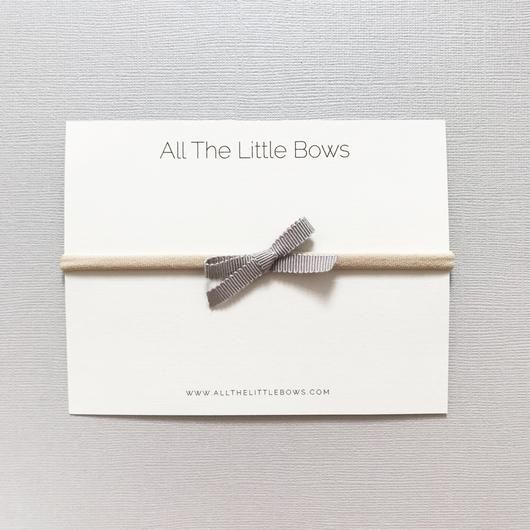 All the Little Bows All the Little Bows Petite Ribbon Headband Bow//Pebble