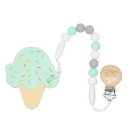 glitter and spice Glitter & Spice Silicone Clip On Teether Ice Cream Cone