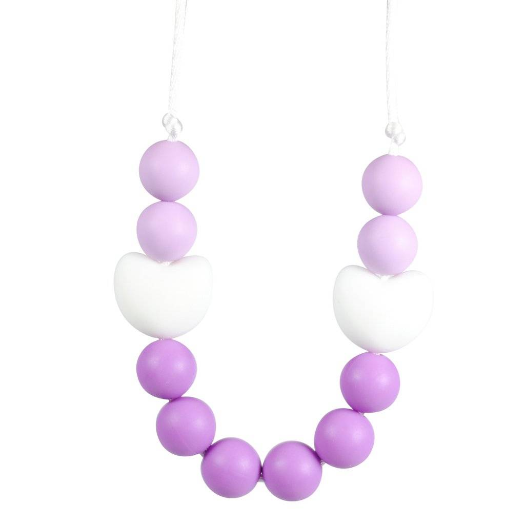 glitter and spice Glitter & Spice Kids Silicone Teething Necklace - Viola