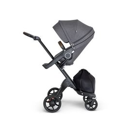 Stokke Stokke® Xplory® Black Chassis with Brown Handle- Black Melange Seat 2018