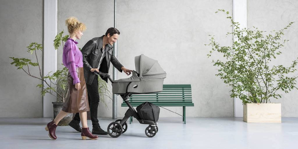 Stokke Stokke® Xplory® Silver Chassis with Brown Handle