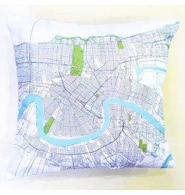 Ellen Macomber Ellen Macomber NOLA Map Pillow