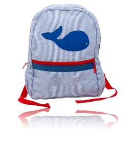 Palm Beach Crew Seersucker Backpack - Whale