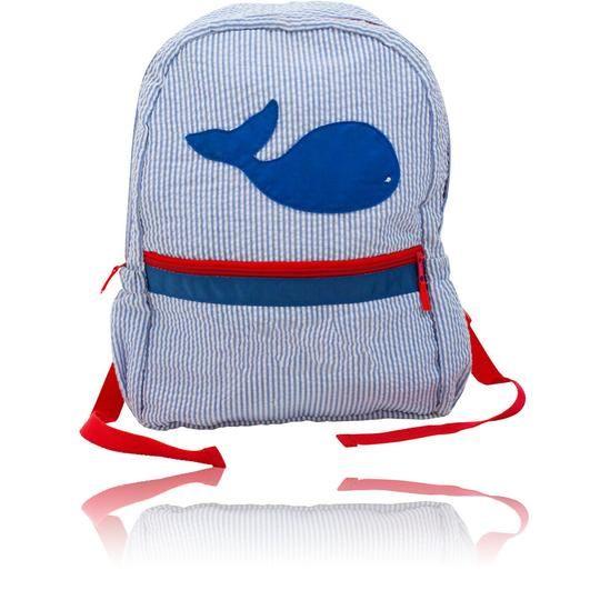 Palm Beach Crew Seersucker Backpack - Whale
