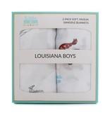 Little Hometown Louisiana Boys Bamboo Swaddle Set