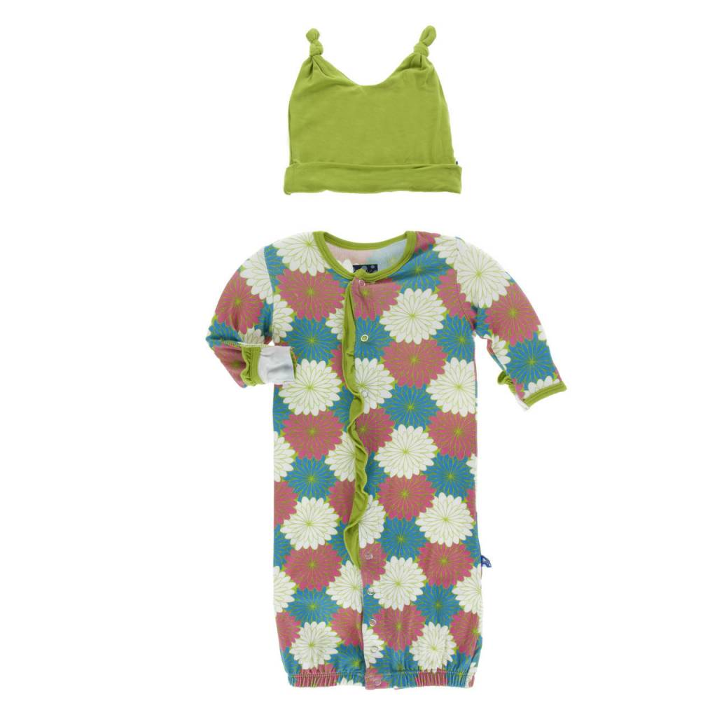 KicKee Pants Layette Gown Converter & Hat Set - Tropical Flowers ...