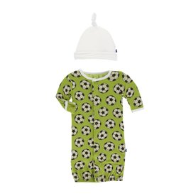 KicKee Pants KicKee Pants Layette Gown Converter & Knot Set - Meadow Soccer