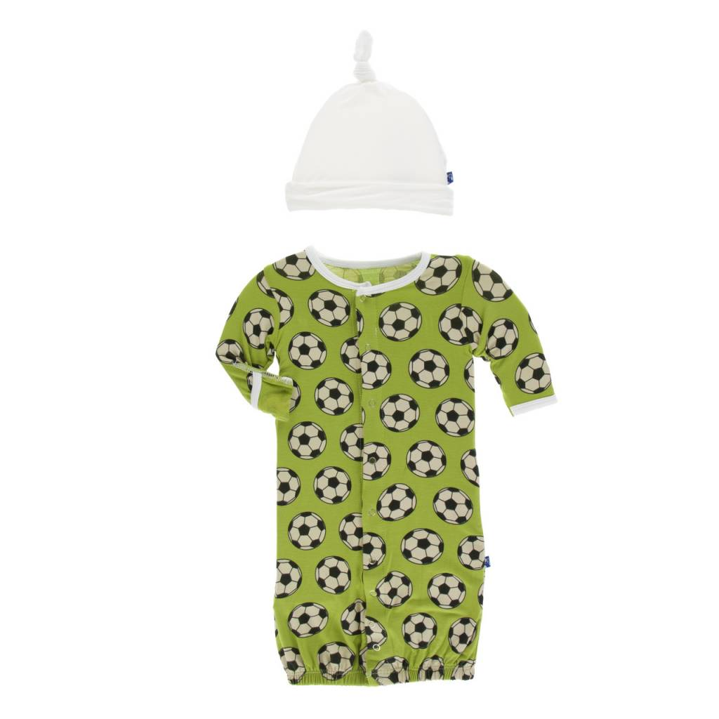 KicKee Pants Layette Gown Converter & Knot Set - Meadow Soccer ...