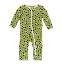KicKee Pants KicKee Pants Zipper Coverall - Meadow Soccer