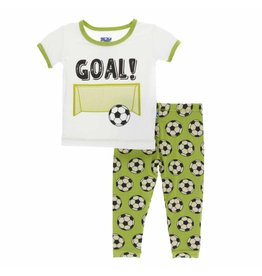 KicKee Pants KicKee Pants Short Sleeve PJ Set - Meadow Soccer