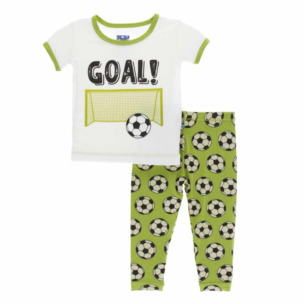 KicKee Pants KicKee Pants Short Sleeve PJ Set - Meadow Soccer