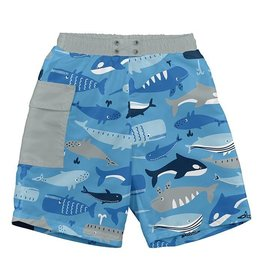 i play. i play Pocket Trunks with Swim Diaper - Blue Whale League