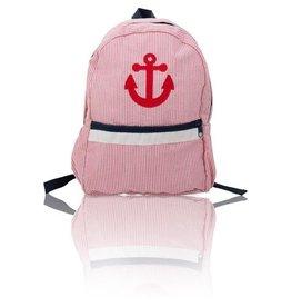 Palm Beach Crew Seersucker Backpack - Anchor