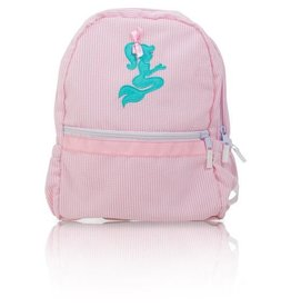Palm Beach Crew Seersucker Backpack - Mermaid