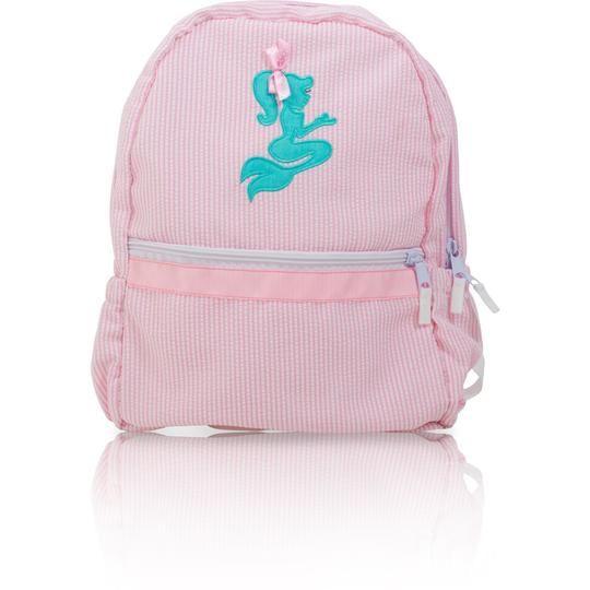 Palm Beach Crew Seersucker Backpack - Mermaid