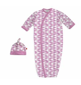 Magnetic Me Magnetic Me Modal Gown & Hat Set - Pink Mod Fish