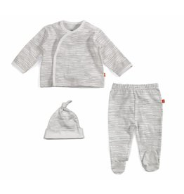 Magnetic Me Magnetic Me Organic Cotton Kimono 3-piece Set - Birch