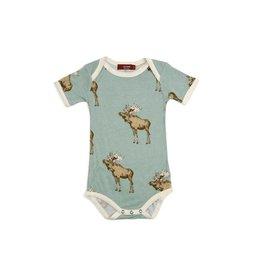 Milkbarn Milkbarn Bamboo Onesie - Bow Tie Moose