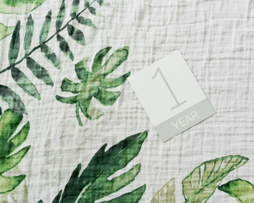 little unicorn little unicorn Photo Blanket- Tropical Leaf