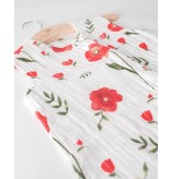 little unicorn little unicorn cotton muslin sleep bag- Summer Poppy