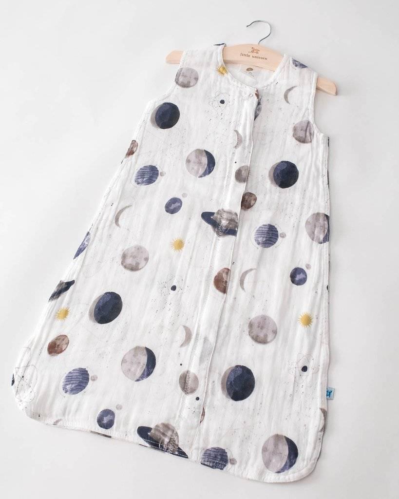 little unicorn little unicorn cotton muslin sleep bag- Planetary