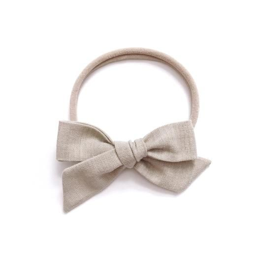 All the Little Bows All the Little Bows Fabric Headband - Classic Knot//Flax