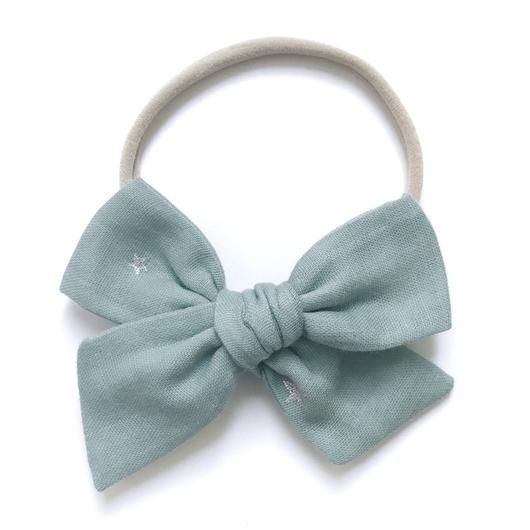 All the Little Bows All the Little Bows Fabric Headband - Specialty Knot//Metallic Star