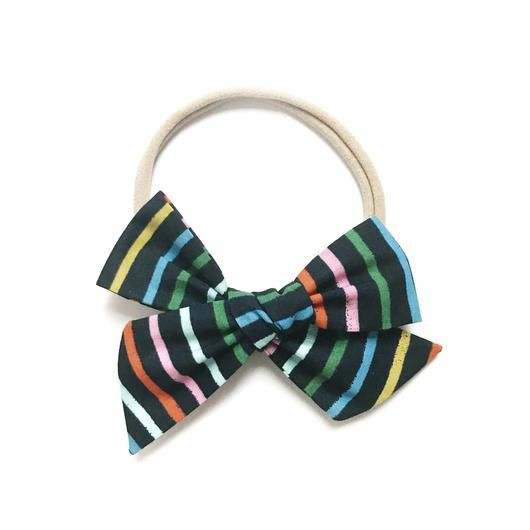 All the Little Bows All the Little Bows Fabric Headband - Classic Knot//Happy Stripes