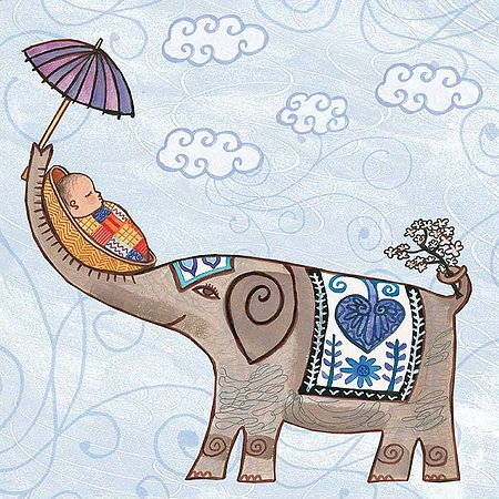 Elephant new baby greeting card zukababy putumayo elephant new baby greeting card m4hsunfo