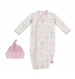 Magnetic Me Magnetic Me Modal Gown & Hat Set (0-3mo) - Boho Bebe