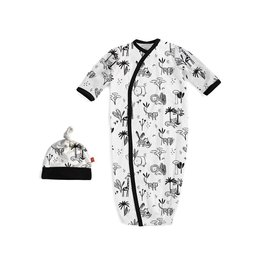 Magnetic Me Magnetic Me Modal Magnetic Gown & Hat Set (0-3mo) - Animal Safari