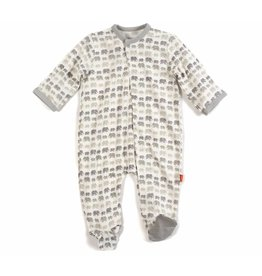 Magnetic Me Magnetic Me Modal Footie - Gray Dancing Elephants