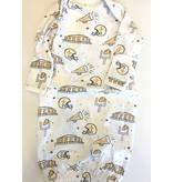 Nola Tawk Saints Black & Gold Organic Baby Gown (0-3 mo)