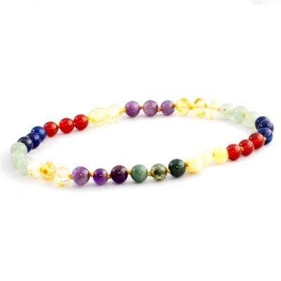 The Amber Monkey The Amber Monkey Baltic Amber & Gemstone Necklace - Rainbow
